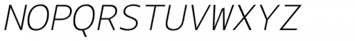 Bale Mono Thin Italic Font UPPERCASE