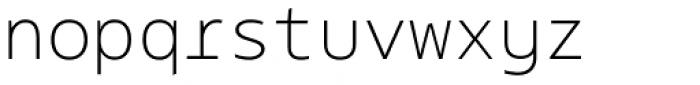 Bale Mono Thin Font LOWERCASE