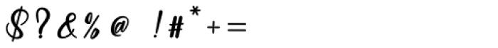 Baleria Script Regular Font OTHER CHARS