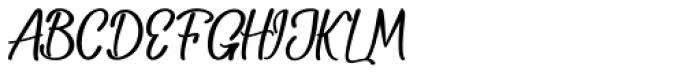 Baleria Script Regular Font UPPERCASE
