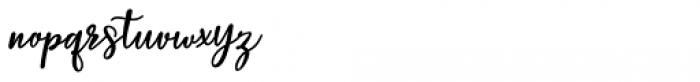 Baleria Script Regular Font LOWERCASE