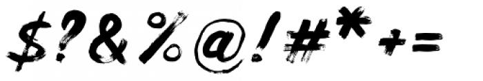 Balkan Script Font OTHER CHARS
