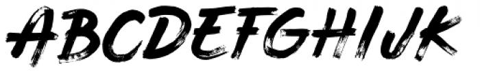 Balkan Script Font UPPERCASE