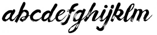 Balkan Script Font LOWERCASE