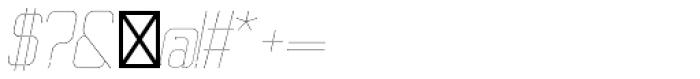 Ballege UltraLight Oblique Font OTHER CHARS