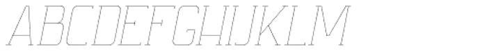 Ballege UltraLight Oblique Font UPPERCASE
