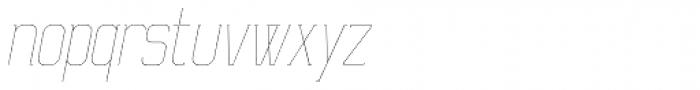 Ballege UltraLight Oblique Font LOWERCASE