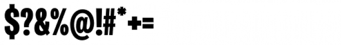 Ballinger Condensed Series X-Condensed Black Font OTHER CHARS