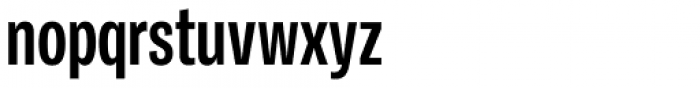Ballinger Condensed Series X-Condensed Bold Font LOWERCASE