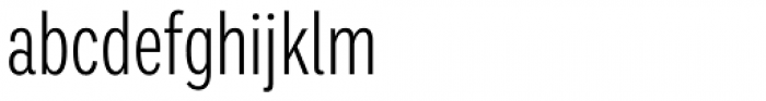 Ballinger Condensed Series X-Condensed Light Font LOWERCASE