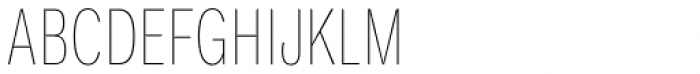 Ballinger Condensed Series X-Condensed Thin Font UPPERCASE