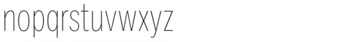 Ballinger Condensed Series X-Condensed Thin Font LOWERCASE