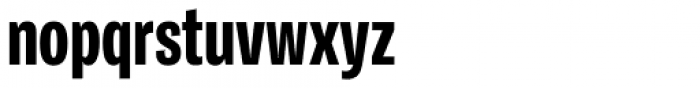 Ballinger Condensed Series X-Condensed X-Bold Font LOWERCASE