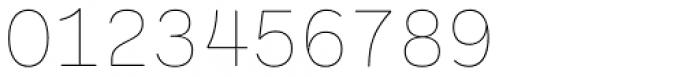 Ballinger Mono Thin Font OTHER CHARS