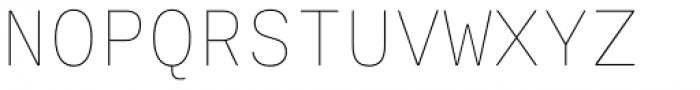 Ballinger Mono Thin Font UPPERCASE