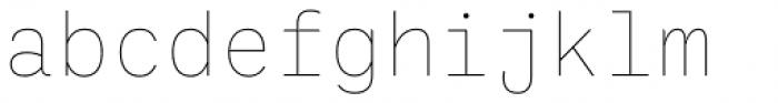 Ballinger Mono Thin Font LOWERCASE