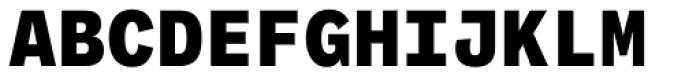 Ballinger Mono X-Bold Font UPPERCASE