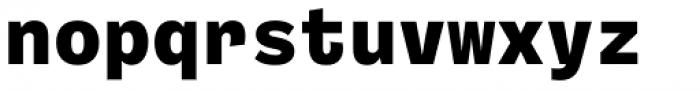 Ballinger Mono X-Bold Font LOWERCASE