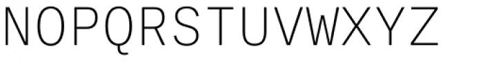 Ballinger Mono X-Light Font UPPERCASE