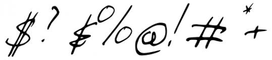 Ballpen Slanted Font OTHER CHARS