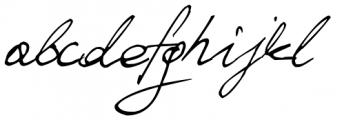Ballpen Slanted Font LOWERCASE