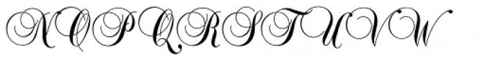 Balmoral Std Font UPPERCASE