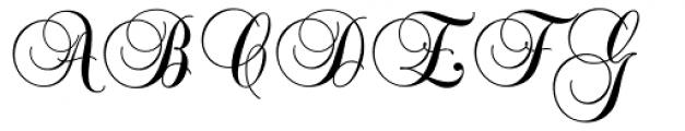Balmoral Font UPPERCASE