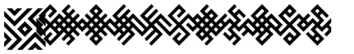 Baltic Ornaments B Font UPPERCASE