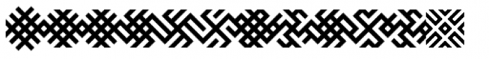 Baltic Ornaments B Font LOWERCASE