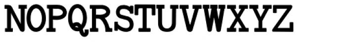 Baltimore Typewriter Bold Font UPPERCASE