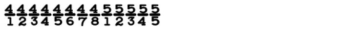 Baltimore Typewriter Fractions Font LOWERCASE