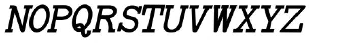 Baltimore Typewriter Italic Font UPPERCASE