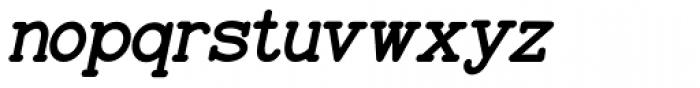 Baltimore Typewriter Italic Font LOWERCASE