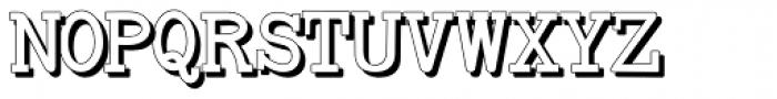 Baltimore Typewriter Shadow Font UPPERCASE