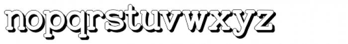 Baltimore Typewriter Shadow Font LOWERCASE