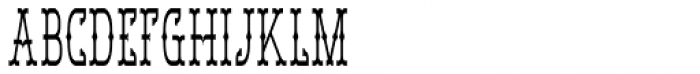 Bamberforth Condensed Font UPPERCASE