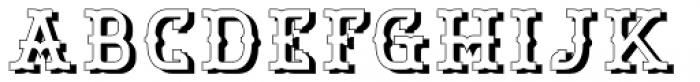 Bamberforth Embossed Font UPPERCASE