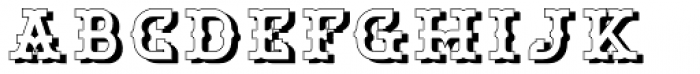 Bamberforth Embossed Font LOWERCASE