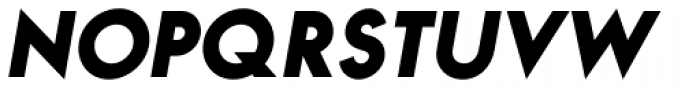 Bambino Black Italic Font UPPERCASE