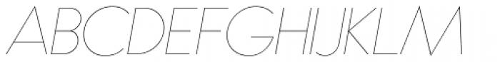 Bambino Extra Light Italic Font UPPERCASE