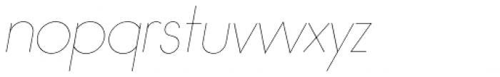 Bambino Extra Light Italic Font LOWERCASE