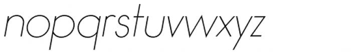 Bambino Thin Italic Font LOWERCASE
