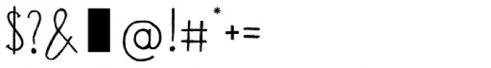 Banana and Sun Regular Font OTHER CHARS