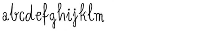 Banana and Sun Regular Font LOWERCASE