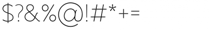 Banda Thin Font OTHER CHARS