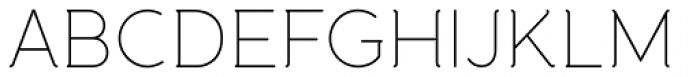 Banda Thin Font UPPERCASE