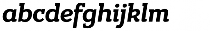 Bandera Bold Italic Font LOWERCASE