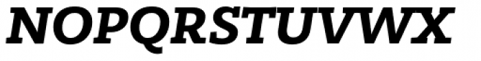 Bandera Cyrillic Bold Italic Font UPPERCASE