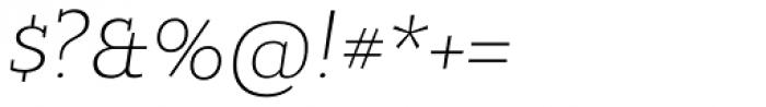 Bandera Cyrillic Light Italic Font OTHER CHARS