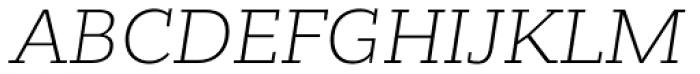 Bandera Cyrillic Light Italic Font UPPERCASE